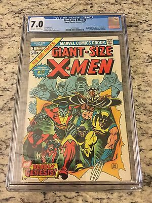 GIANT SIZE X-MEN #1 CGC 7.0 Off White to White Pages Marvel Key NICE!!