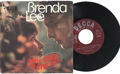 """BRENDA LEE - Can't take my eyes off you - 7"""" 45gg ITA MINT1967"""