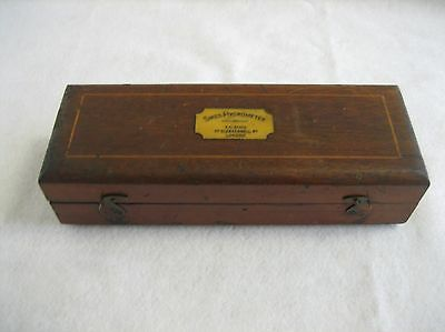 Antique Sikes Mahogany Boxed Hydrometer