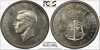 1947 South Africa Proof 2 1/2 Shillings PCGS PR63