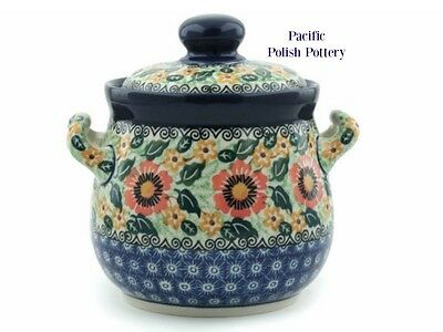 Polish Pottery Unikat Kitchen Canister Jar Pot Belly (171-u1733) Poland