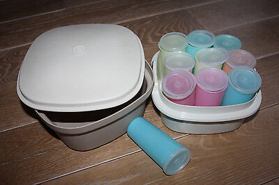 YAOURTIERE -FROMAGERE Multi-service TUPPERWARE & 10 pots Yaourts