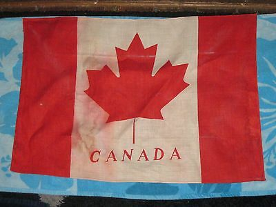 """Vintage large Canadian Canada flag, made in Hungary  +/- 20"""" x 29"""""""