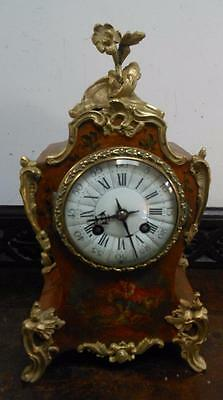 late  victorian fancy french striking mantel clock