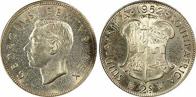 1952 Proof South Africa 2 Shilling PCGS PR66