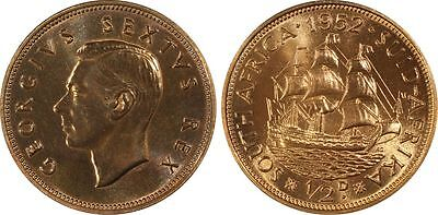 1952 Proof South Africa 1/2 Penny PCGS PR66RB