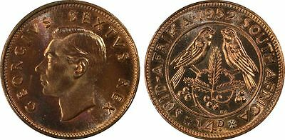1952 Proof South Africa Farthing PCGS PR66RB
