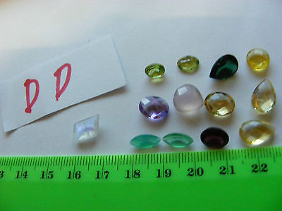 Lot of 12 Genuine Faceted Gemstones,natural mined stones...Nice Variety.(Lot DD)