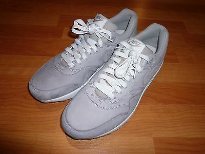 buy online af5bc 03980 ... germany new nike air max 1 leather premium gray mens running shoes sz 9  705282 005