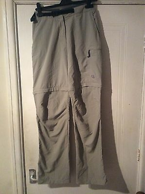 ladies mountain equipment size 10 zip off walking trousers