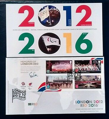 London 2012 Rio 2016 Olympic & Paralympic Games Handover Royal Mail FDC