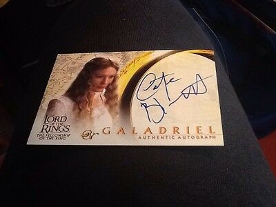 Topps Lord Of The Rings Fellowship The Ring FOTR Autograph Blanchett Galadriel