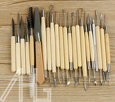 22pcs Pro Polymer Clay Sculpting Tool Set Wood Models Art Projects Pottery Tools