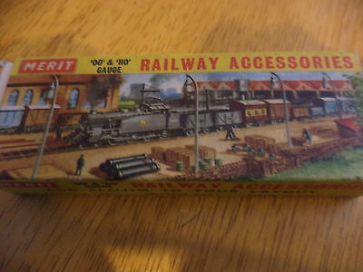 merit ho/oo railway accessories 8 gas lamp posts mint boxed  please see pictures