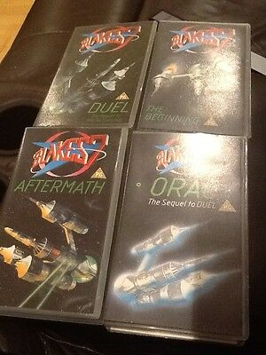 Blakes 7, 4 Videos, Orac, Duel, The Beginning, And The Aftermath.