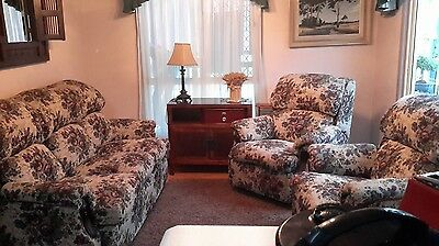 Lounge Suite - 3 Seater and 2 Recliners - VGC