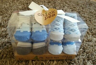 Baby boy 0-6 months 4 pack baby socks gift  **brand new **