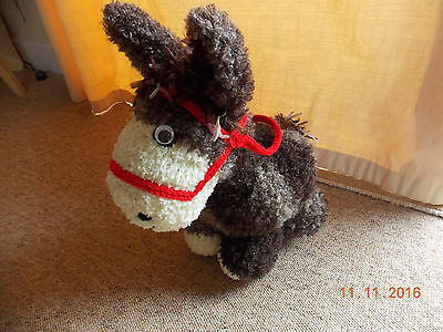Unique Hand crafted knitted Donkey Soft Cuddly Toy