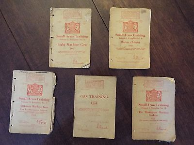 SMALL ARMS TRAINING VOLUMES 4,7,8 & 21 plus GAS TRAINING  1941/2  World War Two