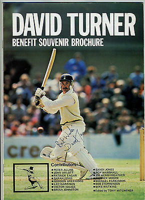Cricket Memorabilia - small collection of brochures with signatures