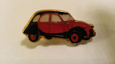2CV Deux Chevaux Deudeuche CITROEN red and black side PIN