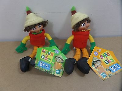 """Bill And Ben 8"""" BBC Soft Plush Toys 2000 still with tags"""