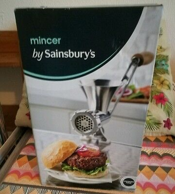 Sainsbury's Meat Mincer. Brand new and sealed. Insured courier shipping.