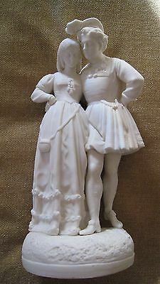 Large C1860 Parian figure LOVERS WALK by modelled by A MONRO in perfect condtion