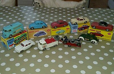 Set of original 60s VW Corgi dinky toy collection Volkswagen