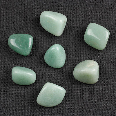Green Aventurine tumbled stone sold by 7pcs with one pouch TS0019