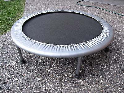mini 36 inch exercise trampoline,silver,hardly used,unwanted, bargain