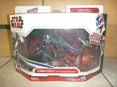 Star Wars Clone Wars Anakin Skywalker & Can- Cell action figure set - New in Box