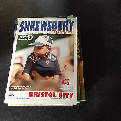 Shrewsbury Town V Bristol City 29/8/95
