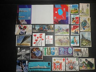 Great Britain stamps - some mint mostly used, Thomas Tank, Poppies, Paralympic