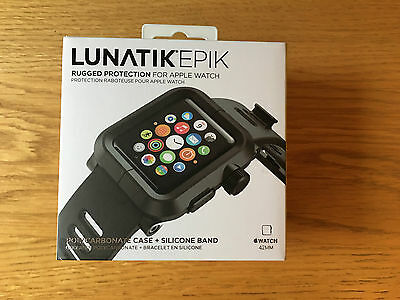 !! LUNATIK EPIK 42mm APPLE WATCH STRAP - BLACK - WORN ONCE !!