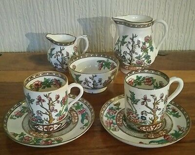 Coalport Indian Tree Tea for Two set / Coffee for Two  1891 to 1920