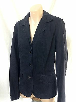 COUNTRY ROAD Navy Cotton Jacket Size L AS NEW