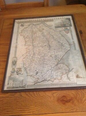 Antique map of Lincolnshire