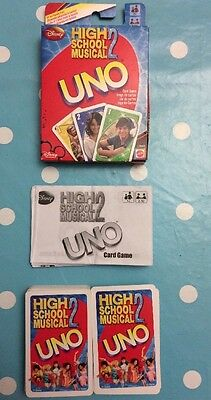 Disney Mattel - High School Musical 2 Uno Card Game- 2007 With Instructions