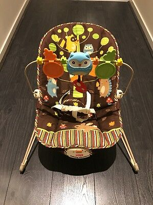 Fisher Price Woodland Friends Bouncer Chair - As New Condition