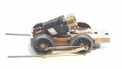 058 O Gauge Electric Locomotive Mechanism with Brass Housing and  4 Wheels