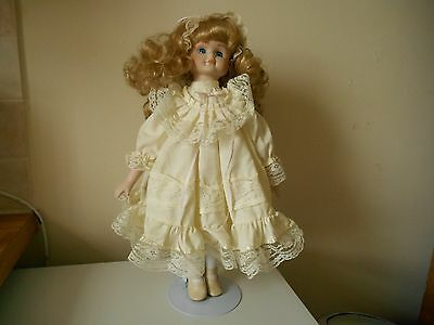 Collectable Porcelain Doll With Stand