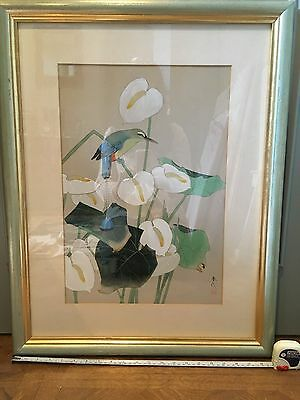 Modern Chinese Watercolour Framed