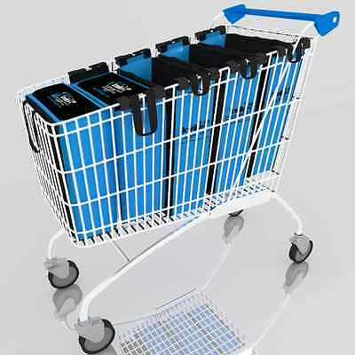 Reusable Trolley Bags : Grocery Shopping Supermarket - Large Size Kwik Bagger