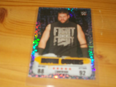 WWE Topps Slam Attax Takeover Holographic Foil Card  Gold Champion Kevin Owens