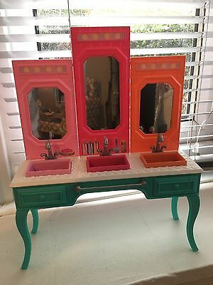Barbie Doll House Furniture Vanity Bathroom Sink