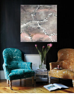 Abstract Vintage Pattern Stretched Canvas Print Framed Wall Art Decor Painting