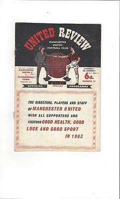 Manchester United v Huddersfield Town FA Cup 1962/63 Football Programme
