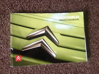 Citroen C3 Owners Manual Handbook 2006 2010