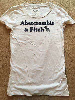 abercrombie and fitch Women's White T Shirt Size Small